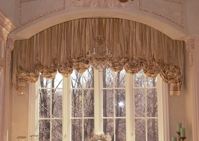 Shirred balloon Valance