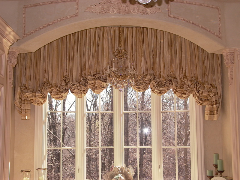 shirred balloon valance - Valances