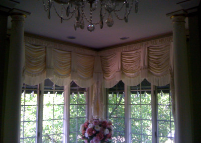 Swags with shirred cornice