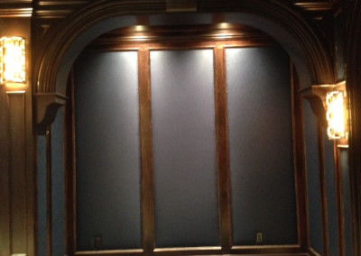 Upholstered walls theatre