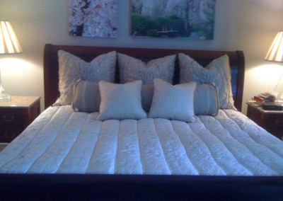 channel quilt bedspread